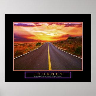 Viaje 22 del poster de motivación x28