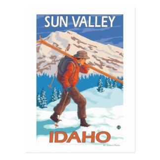 Viaje 2 del vintage de los esquís de la nieve del postales