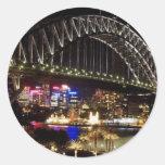 Viaje a Australia Pegatina Redonda