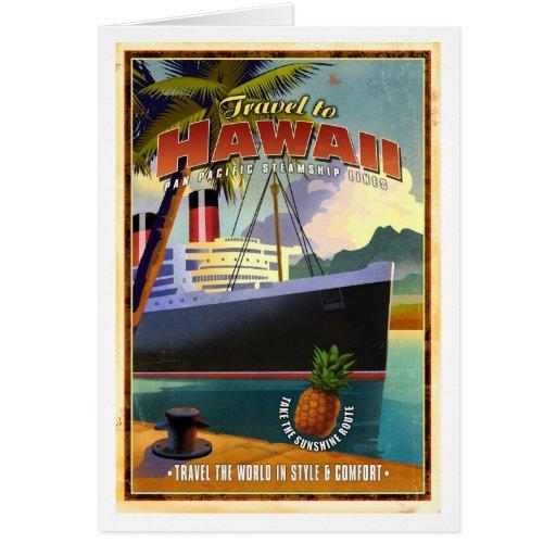Viaje a Hawaii Tarjeta De Felicitación