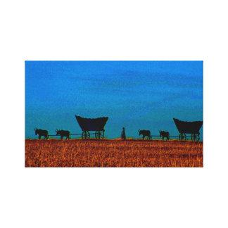 Viaje a través de los llanos impresión en lienzo