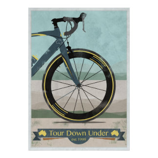 Viaje abajo bajo raza de la bici póster