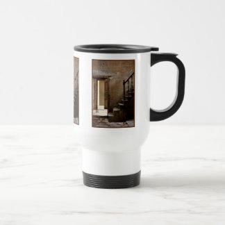 Viaje abandonado taza de café