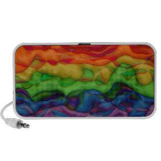 Viaje ácido del arco iris del hippy de Psychedlic iPhone Altavoz