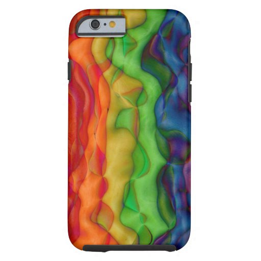 Viaje ácido del arco iris del hippy de Psychedlic Funda De iPhone 6 Tough