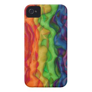 Viaje ácido del arco iris del hippy de Psychedlic iPhone 4 Cárcasas