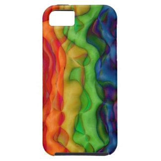 Viaje ácido del arco iris del hippy de Psychedlic iPhone 5 Fundas