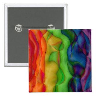 Viaje ácido del arco iris del hippy de Psychedlic Pin Cuadrado