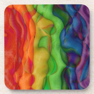 Viaje ácido del arco iris del hippy de Psychedlic Posavasos