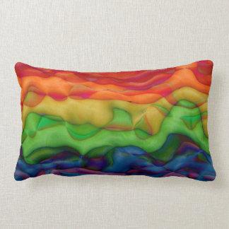 Viaje ácido del arco iris psicodélico del hippy cojín lumbar