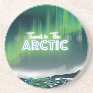 Viaje al arte ártico del poster del viaje posavasos diseño