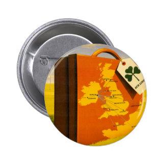Viaje al botón redondo del poster de Irlanda Pin Redondo De 2 Pulgadas