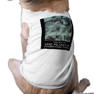 Viaje al planeta del engranaje prehistórico de las playera sin mangas para perro