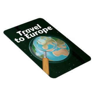 Viaje al poster de las vacaciones de Europa Imanes