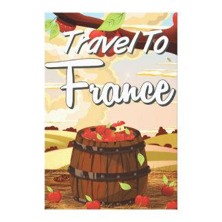 Viaje al poster del viaje de Francia Impresiones En Lona Estiradas