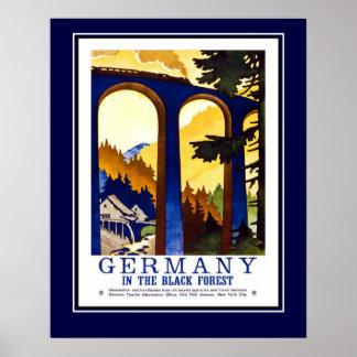 Viaje Alemania del vintage el bosque negro de gran Póster