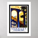Viaje Alemania del vintage el bosque negro Poster