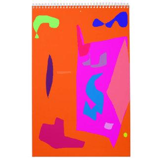 Viaje anaranjado del plan de la realidad de la voz calendarios