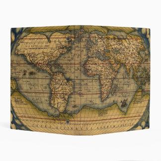 Viaje antiguo de Theatrum Orbis del mapa del mundo Mini Carpeta
