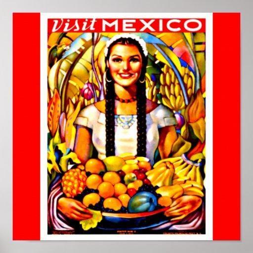 Viaje Arte-México del Poster-Vintage