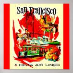 Viaje Arte-San Francisco del Poster-Vintage
