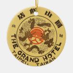 Viaje Asia, hotel magnífico, Taipei, Taiwán del vi Ornamento Para Arbol De Navidad