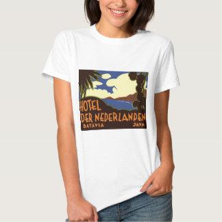 Viaje Asia, Jakarta Indonesia del vintage Camisas