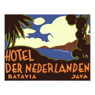 """Viaje Asia, Jakarta Indonesia del vintage Invitación 4.25"""" X 5.5"""""""