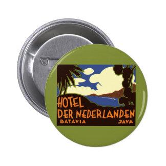 Viaje Asia, Jakarta Indonesia del vintage Pin Redondo 5 Cm