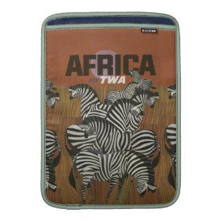 Viaje auténtico de África del poster del vintage Funda Macbook Air