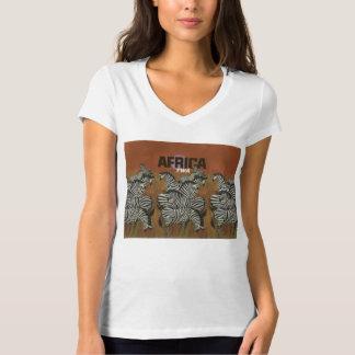 Viaje auténtico de África del poster del vintage Remera
