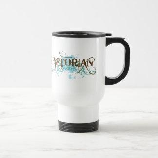 Viaje azul fresco del historiador tazas de café