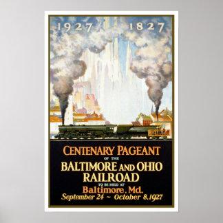 Viaje, Baltimore y Ohio del vintage Posters