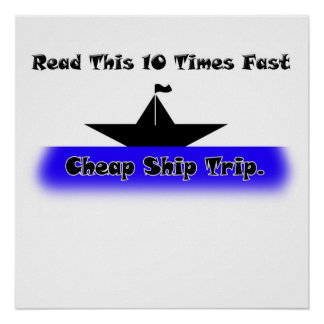 Viaje barato de la nave póster