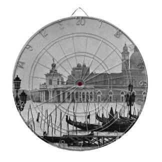 Viaje blanco negro de Venecia Italia del Gran