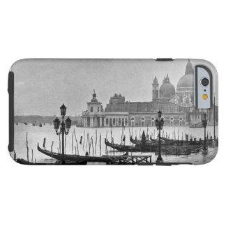Viaje blanco negro de Venecia Italia del Gran Funda De iPhone 6 Tough