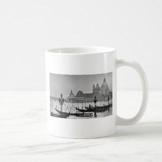 Viaje blanco negro de Venecia Italia del Gran Taza Básica Blanca