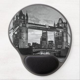 Viaje BRITÁNICO de Londres del puente blanco negro Alfombrilla Con Gel