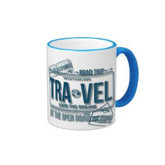 Viaje, café de las vacaciones del viaje por taza de dos colores