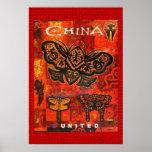 Viaje China unida poster del vintage Póster