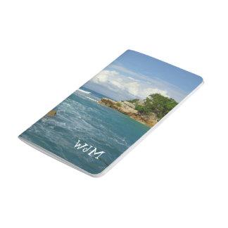 Viaje con monograma del paisaje marino de Labadie Cuaderno