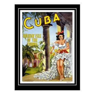 Viaje Cuba del vintage de la postal