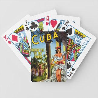 Viaje cubano del vintage del bailarín baraja de cartas