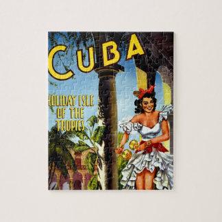 Viaje cubano del vintage del bailarín rompecabezas