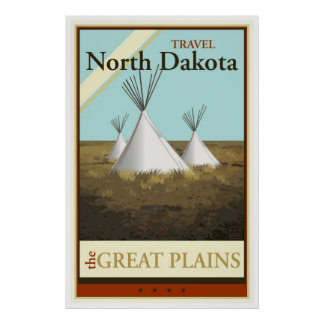 Viaje Dakota del Norte Poster