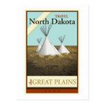 Viaje Dakota del Norte Tarjeta Postal