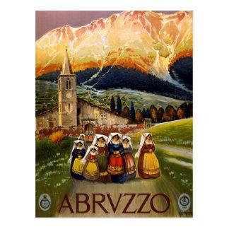 Viaje de Abruzos Italia del vintage Postales