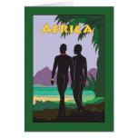 Viaje de África Tarjetas