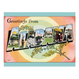 Viaje de Alabama - Alabama del vintage Postal