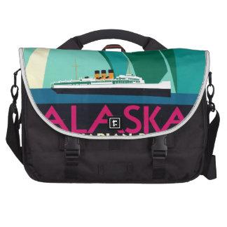 Viaje de Alaska del vintage Bolsas Para Portatil